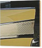 1957 Chevy Bel Air Yellow Rear Quarter Panel Wood Print