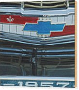 1957 Chevy Front Wood Print