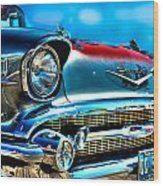 1957 Chevy Grille Wood Print