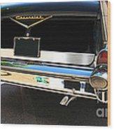 1957 Chevy Rear View Car Art Wood Print