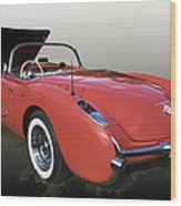 1957 Corvette Fuel Injected Wood Print