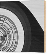 1957 Corvette Wheel Wood Print by Jill Reger