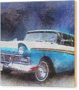 1957 Ford Classic Car Photo Art 02 Wood Print