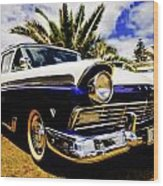 1957 Ford Custom Wood Print by motography aka Phil Clark
