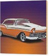1957 Ford Fairlane 500 Wood Print