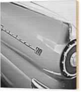 1957 Ford Fairlane 500 Taillight Emblem Wood Print