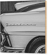 1957 Ford Fairlane Emblem -359bw Wood Print