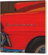 1957 Ford Fairlane Emblem -359c Wood Print