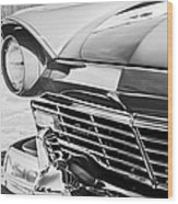 1957 Ford Fairlane Grille -107bw Wood Print