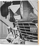 1957 Ford Fairlane Grille -205bw Wood Print