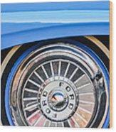 1957 Ford Fairlane Wheel Wood Print