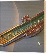 1957 Ford Thunderbird Emblem Wood Print