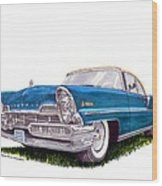 1957 Lincoln Premiere Convert Wood Print