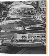 1957 Lincoln Premiere Coupe Painted Bw   Wood Print