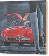 1957 Mercedes Benz 300 Sl Gullwing Coupe Wood Print