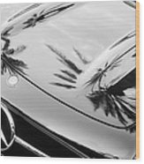 1957 Mercedes-benz 300sl Grille Emblem -0167bw Wood Print
