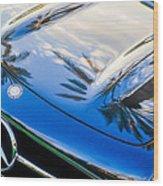 1957 Mercedes-benz 300sl Grille Emblem -0167c Wood Print