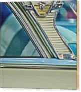 1957 Mercury Monterey Sedan Emblem Wood Print