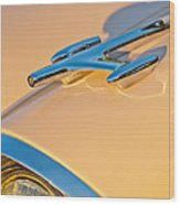 1957 Oldsmobile Hood Ornament 6 Wood Print