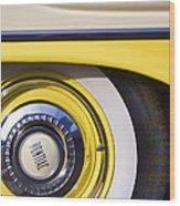 1957 Pontiac Starchief Wheel Cover Wood Print