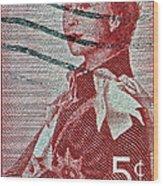 1957 St. Lawrence Seaway Opening Stamp Wood Print