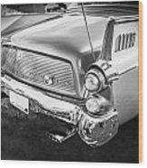 1957 Studebaker Golden Hawk Bw    Wood Print