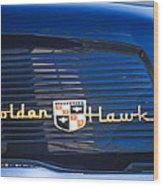 1957 Studebaker Golden Hawk Supercharged Sports Coupe Emblem Wood Print