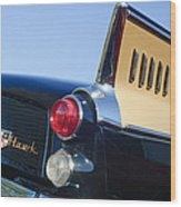 1957 Studebaker Golden Hawk Supercharged Sports Coupe Taillight Emblem Wood Print