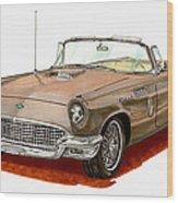 1957 Thunderbird Wood Print