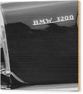 1958 Bmw 3200 Michelotti Vignale Roadster Grille Emblem -2467bw Wood Print