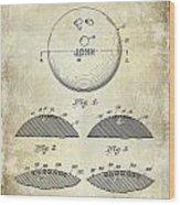 1958 Bowling Patent Drawing Wood Print