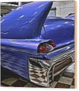 1958 Cadillac Deville Rear Fin Wood Print
