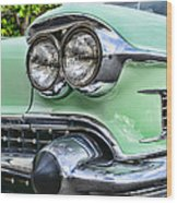 1958 Cadillac Headlights Wood Print