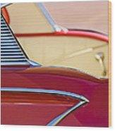 1958 Chevrolet Belair Abstract Wood Print