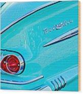 1958 Chevrolet Belair Taillight 2 Wood Print
