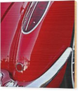 1958 Chevrolet Corvette Taillight Wood Print