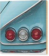 1958 Chevrolet Impala Taillights  Wood Print