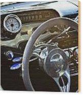 1958 Chevy Impala Dashboard Wood Print