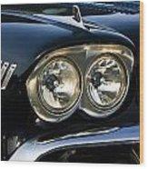 1958 Chevy Impala Headlights Wood Print