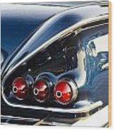 1958 Chevy Impala Tail Lights Wood Print