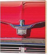 1958 Chrysler Imperial Crown Convertible Emblem Wood Print