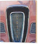 1958 Edsel Pacer Grille Emblem Wood Print
