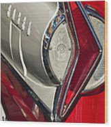 1958 Edsel Wagon Tail Light Wood Print