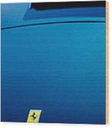 1958 Ferrari 250 Gt Lwb California Spider Hood Emblem Wood Print