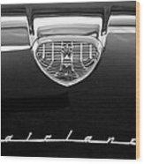 1958 Ford Fairlane 500 Victoria Hood Emblem Wood Print by Jill Reger