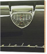 1958 Ford Fairlane 500 Victoria Hood Ornament Wood Print by Jill Reger