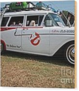 1958 Ford Suburban Ghostbusters Car Wood Print