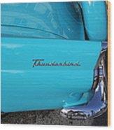 1958 Ford Thunderbird Detail Wood Print