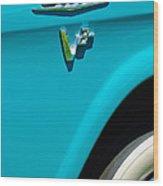 1958 Gmc Series 101-s Pickup Truck Side Emblem Wood Print