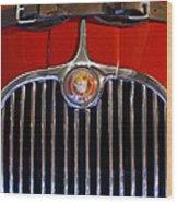 1958 Jaguar Xk150 Roadster Grille Emblem Wood Print by Jill Reger